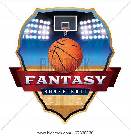 Fantasy Basketball Emblem Badge Illustration