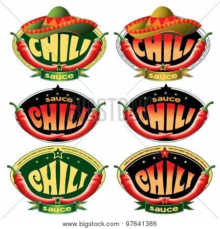 templates labels for sauce chili