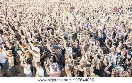 Applauding People During Concert.