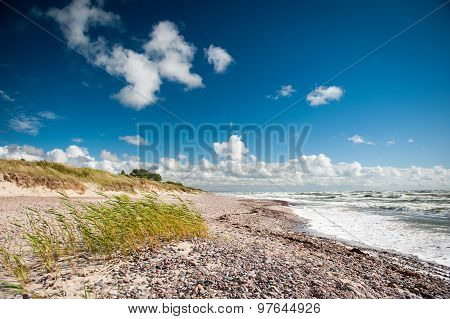 Baltic Sea Coastline-Seaside, Nida, Latvia. Nida is a historic fishing village of Kurzeme, near the state border with Lithuania. poster