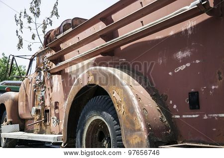 A Rusty Old Fire Truck