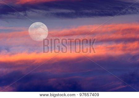 Skies Moon Clouds