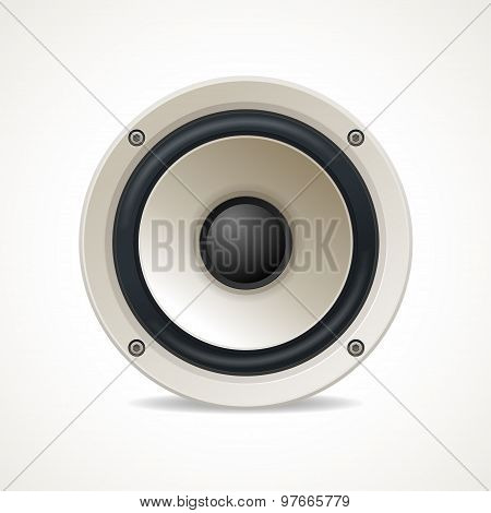 Vector Vintage White Audio Speaker