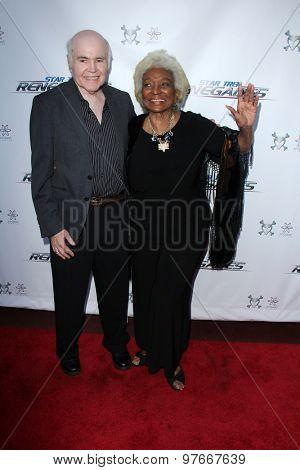 LOS ANGELES - AUG 1:  Walter Koenig, Nichelle Nichols at the