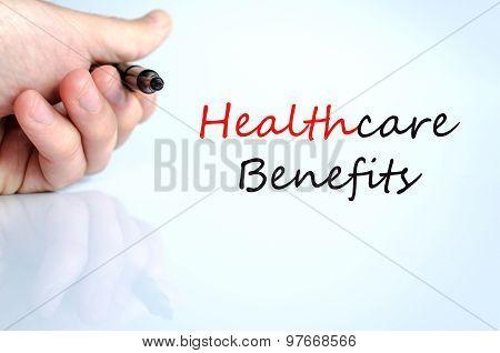 Healthcare Benefits Text Concept