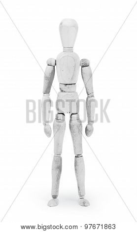 Wood Figure Mannequin With Bodypaint - White