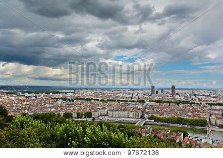 La Part Dieu Building And View Of Lyon City, Lyon, France