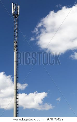 Telecom tower in sunny summer day