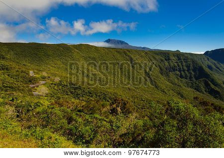 View Of Piton Des Neiges, Reunion Island