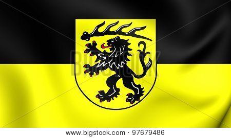 Flag Of Goppingen Kreis, Germany.