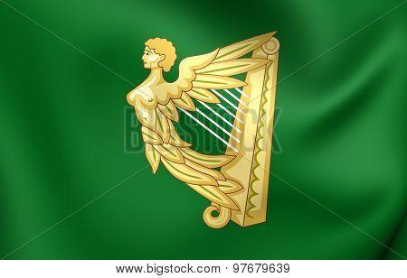 Green Harp Flag Of Ireland