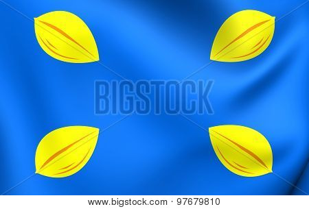 Flag Of Hilversum City, Netherlands.