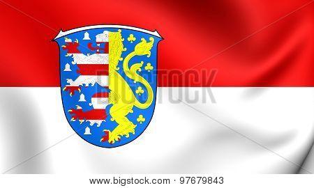 Flag Of Hochtaunuskreis, Germany.