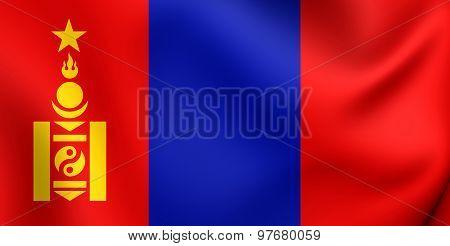 Flag Of Mongolian People's Republic (1940-1992)