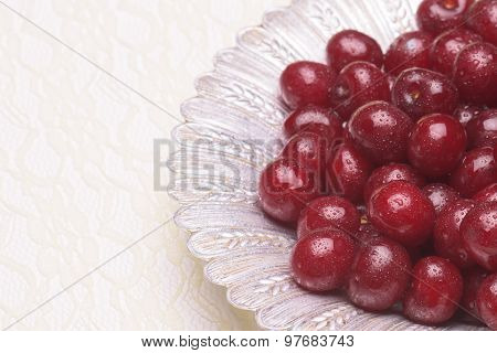 Sour Cherry On A Silver Plate