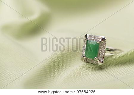 Green Stone Ring