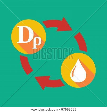 Exchange Sign With A Drachma Sign And A Fuel Drop