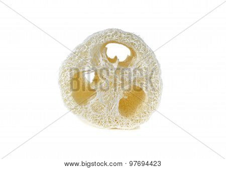 Loofah - natural vegetable fiber for body scrubbing poster
