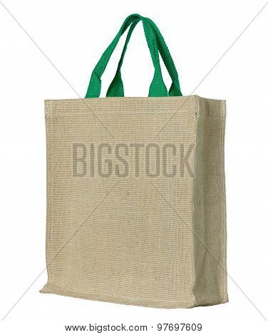 Eco Fabric Bag Isolated On White With Clipping Path