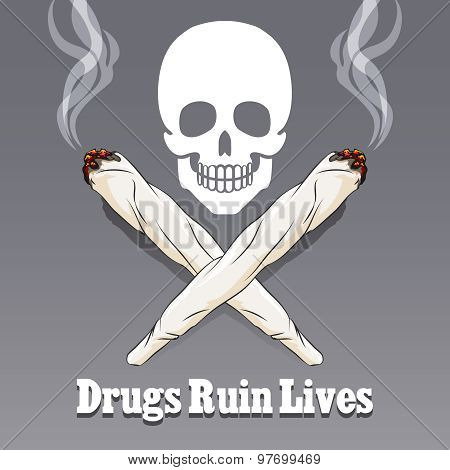 Vector anti drug poster