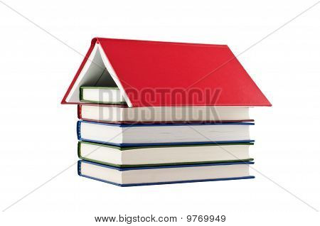 Books House Isolated On White Background.