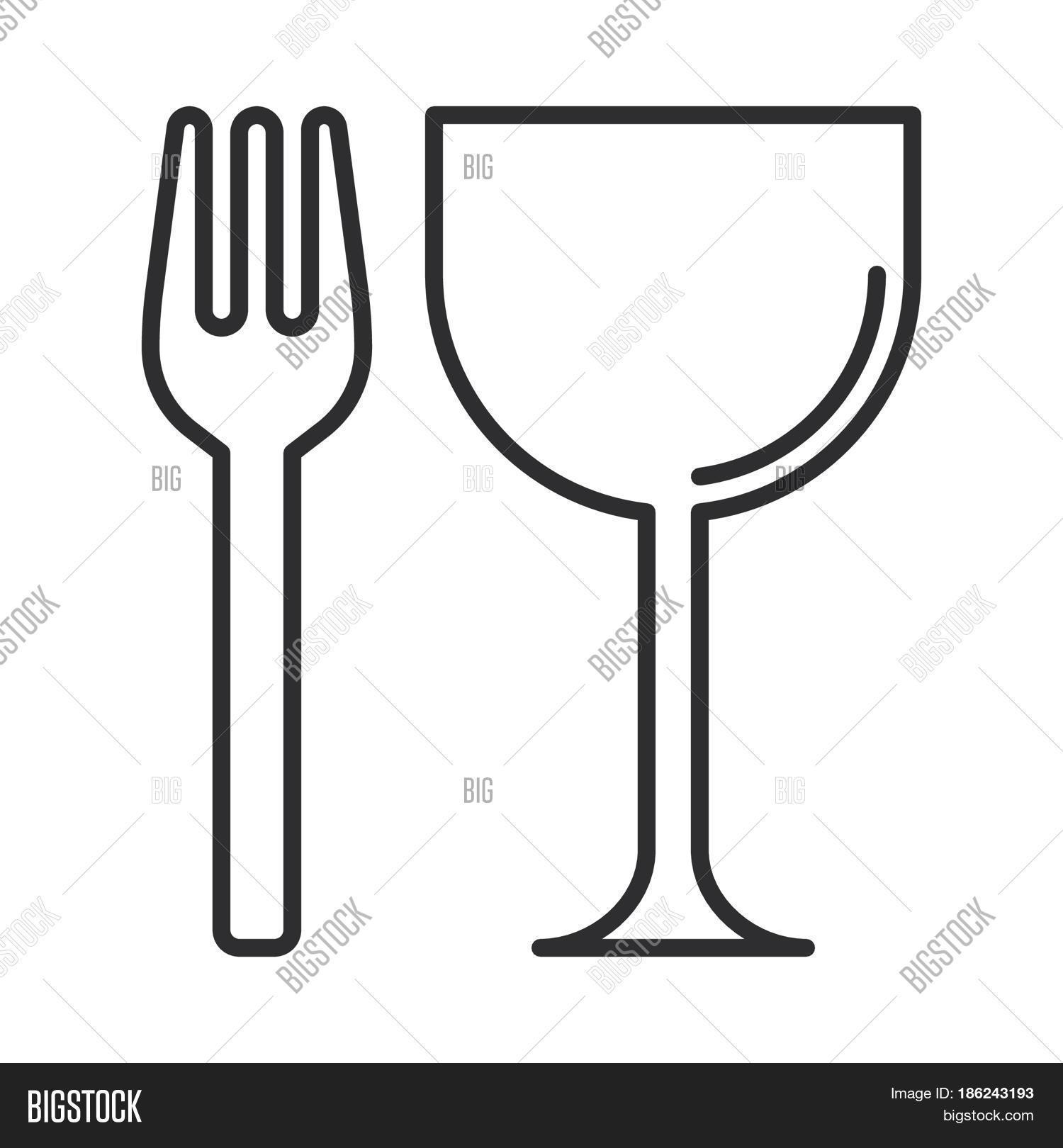 Restaurant Fork Glass Vector Photo Free Trial Bigstock