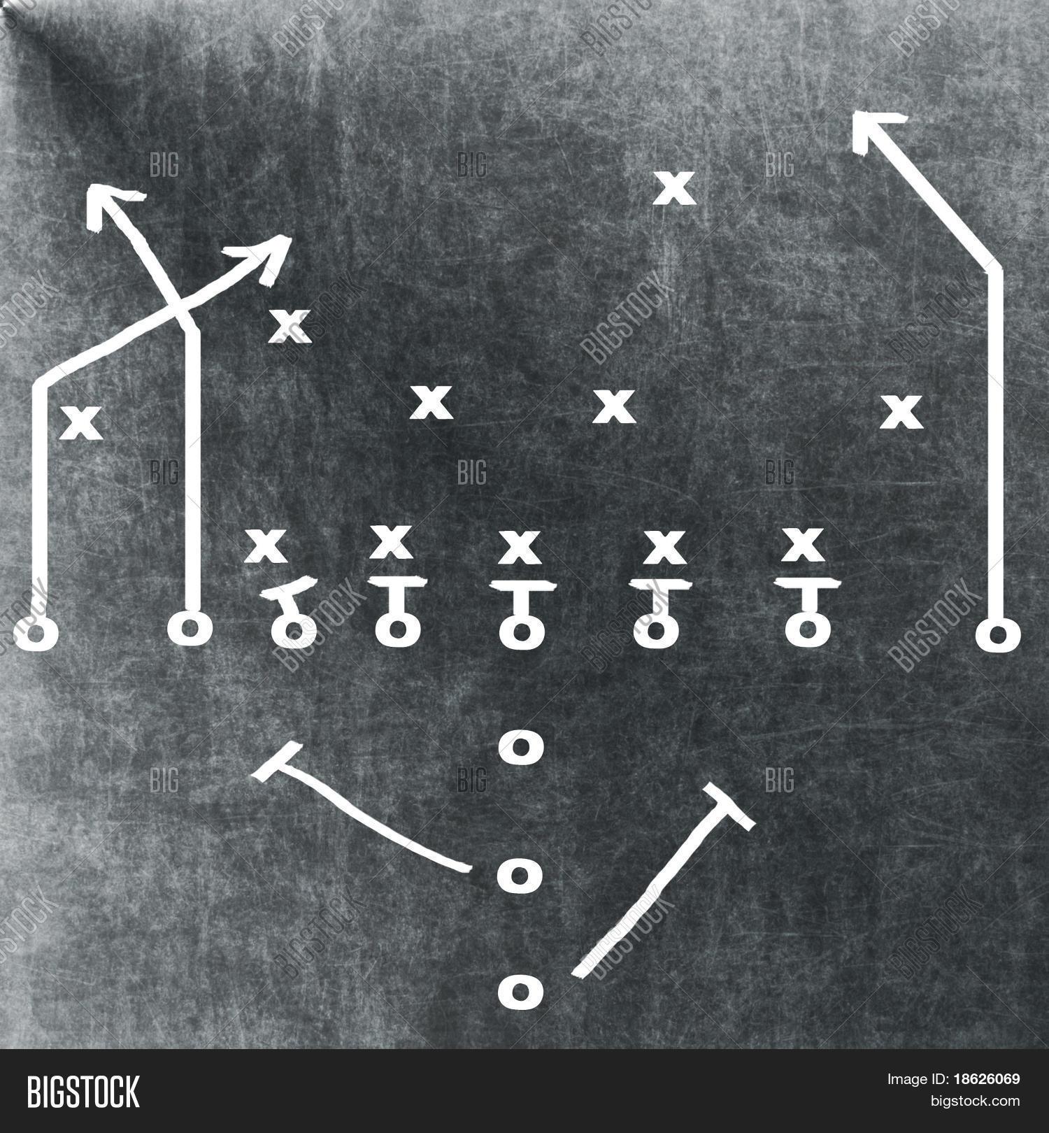 Football play on chalkboard image photo bigstock football play on a chalkboard pooptronica Images