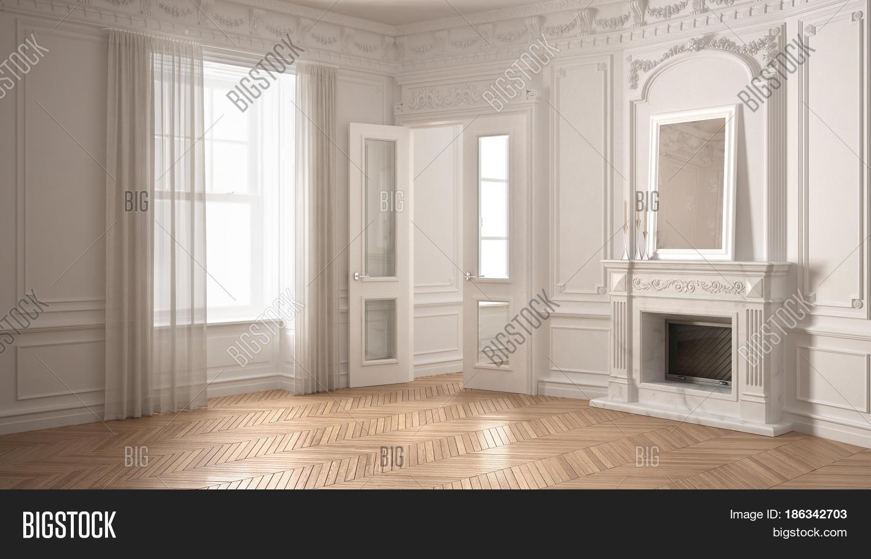 . Classic Empty Room Big Image   Photo  Free Trial    Bigstock