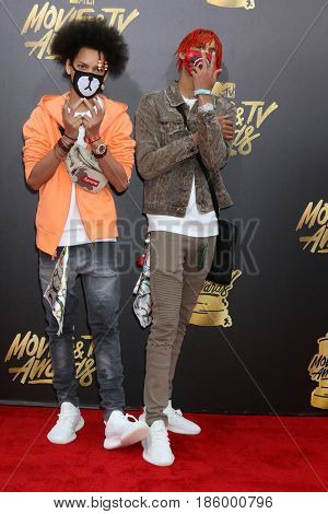 LOS ANGELES - MAY 7:  Ayo, Teo at the MTV Movie and Television Awards on the Shrine Auditorium on May 7, 2017 in Los Angeles, CA