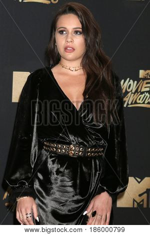 LOS ANGELES - MAY 7:  Bea Miller at the MTV Movie and Television Awards on the Shrine Auditorium on May 7, 2017 in Los Angeles, CA