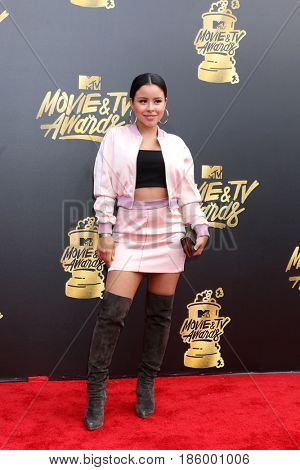 LOS ANGELES - MAY 7:  Cierra Ramirez at the MTV Movie and Television Awards on the Shrine Auditorium on May 7, 2017 in Los Angeles, CA
