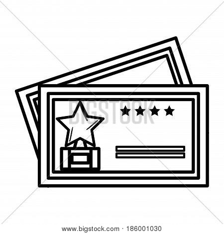 cinema tickest isolated icon vector illustration design