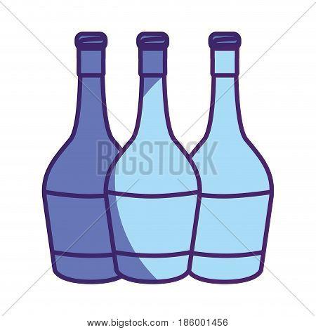 wine bottles taste beverage, vector illustration design
