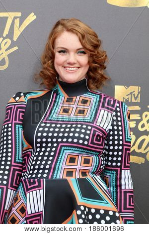 LOS ANGELES - MAY 7:  Shannon Purser at the MTV Movie and Television Awards on the Shrine Auditorium on May 7, 2017 in Los Angeles, CA