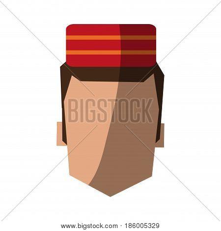 bellboy in uniform icon image vector illustration design