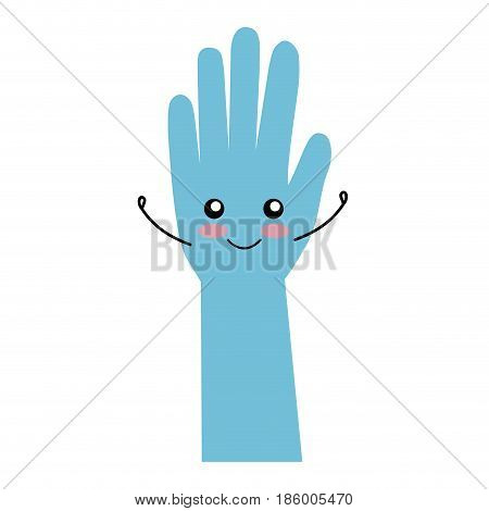 surgical gloves kawaii character vector illustration design