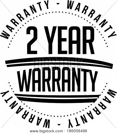 2 year warranty vintage grunge black rubber stamp guarantee background