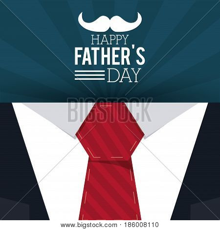 happy fathers day. greeting card. invitation necktie decor vector illustration