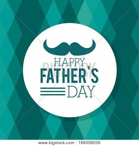 happy fathers day. greeting card mustache geometric background decorate vector illustration