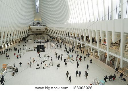 Amazing Westfield World Trade Center - modern Shopping Mall at Ground Zero- MANHATTAN - NEW YORK