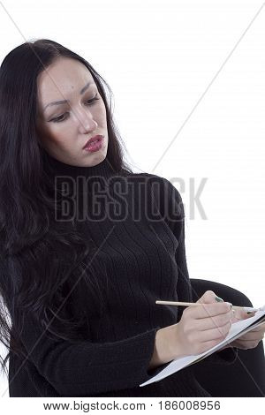Young girl artist drawing pencils and paints