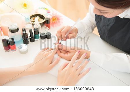 Manicurist Coloring Painting Brushing