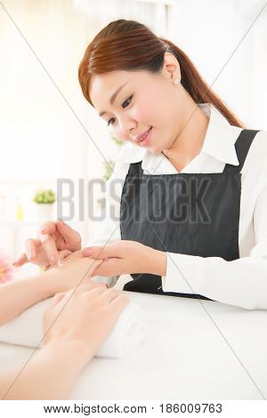 Hands Receiving A Hand Cream Lotion