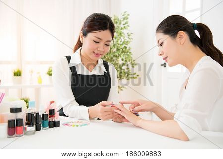 Manicurist And Her Client Are Discussion