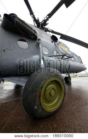 TUSHINO, MOSCOW, RUSSIA - MAY 9, 2012: Russian air force Mi-8MT RF-06059 at Tushino airfiled during Victory Day parade.