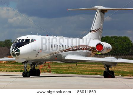 DOMODEDOVO, MOSCOW REGION, RUSSIA - MAY 27 2011: RusAir Tupolev Tu-134A-3 RA-65790 at Domodedovo international airport.