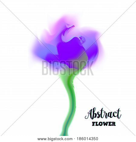 Abstract glitch flower with distorted petal gradient