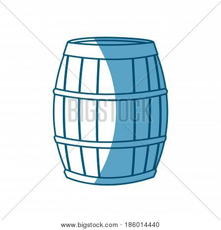 wine barrel wooden conatiner shadow vector illustration