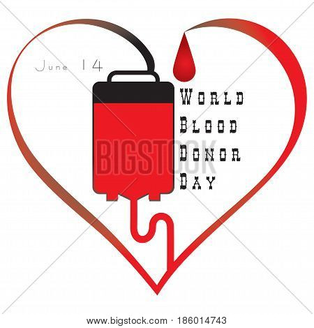 International Blood Donor Day - June 14. Vector illustration.