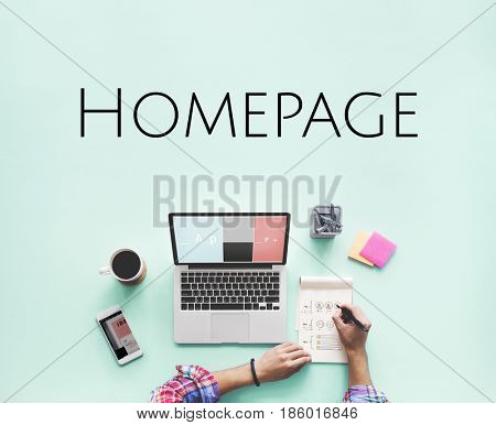 Homepage Website Design Template Graphic Word